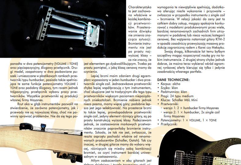 Gitary elektryczne – MAYONES KTM-2